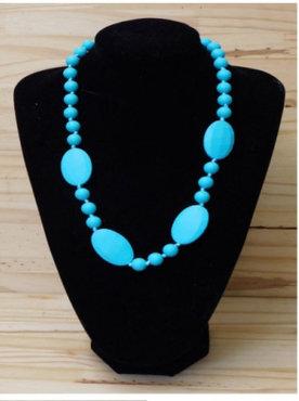 dames bijtketting turquoise