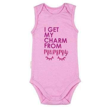 Frogs and Dogs Romper Charm Pink