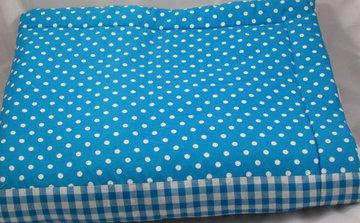 boxkleed blauw geruit/stip