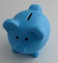 spaarpot blauw