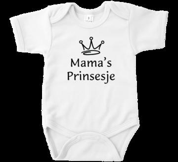 Romper met tekst Mama's prinsesje