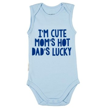 Frogs and Dogs Romper Cute Hot Lucky blue