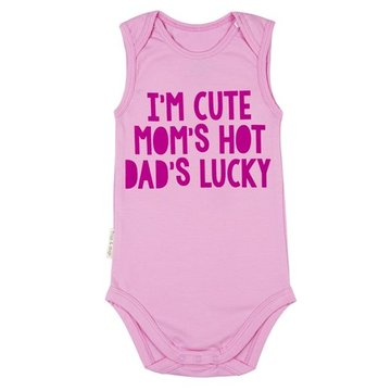 Frogs and Dogs Romper Cute Hot Lucky Pink