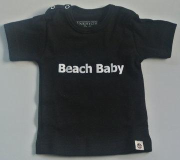 tshirt beach baby zwart/wit