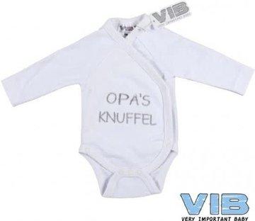 VIB Romper wit Opa's knuffel
