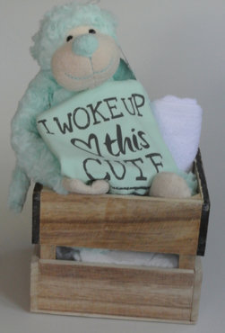 7139021044745c Kraamcadeau I woke up this cute mint groen