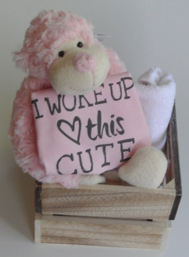Kraamcadeau I woke up this cute roze
